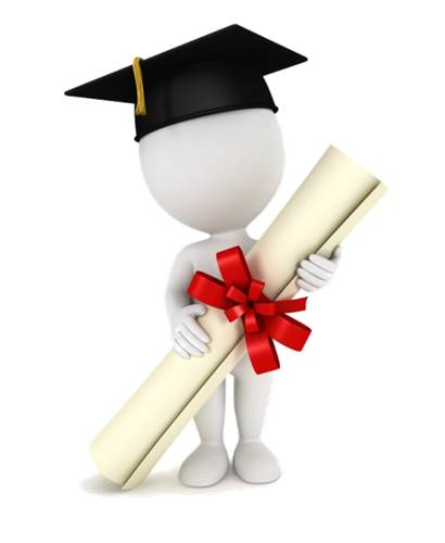 Bonhomme avec un diplôme